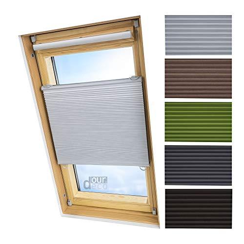 ourdeco® Universal Dachfenster Thermo-Wabenplissee / 55 x 141 weiß (BreitexHöhe) / lichtundurchlässig, verdunkelnd, Thermo- und Hitzeschutz/Klemmen=Montage ohne Bohren=Smartfix=Klemmfix=Easy-to-fix
