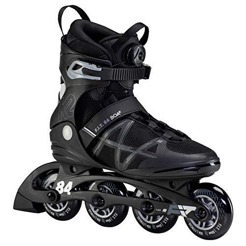 K2 Inline Skates F.I.T. 84 BOA Für Herren Mit K2 Softboot, Black - Silver, 30F0173