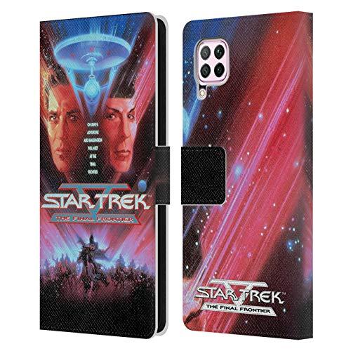 Head Case Designs Offizielle Star Trek The Final Frontier Filmplakaten TOS Leder Brieftaschen Handyhülle Hülle Huelle kompatibel mit Huawei Nova 6 SE / P40 Lite