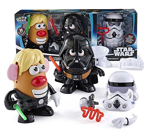 Disney Star Wars Mr Potato Head 30 Piece Set Luke Frywalker Darth Tater & Spudtrooper Costume by Hasbro