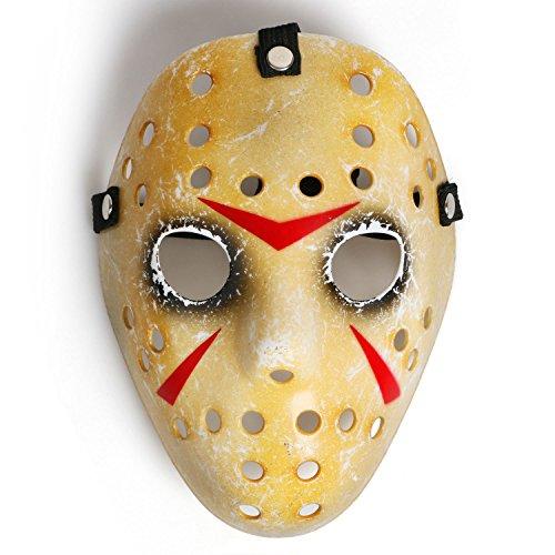 Landisun Maske, Horror-Hockey-Maske, für Halloween Gr. Children's, Schwarze Augen