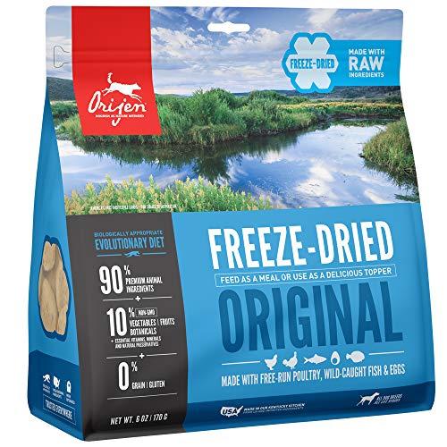 ORIJEN Gefriergetrocknetes Hundefutter & Topper, getreidefrei, proteinreich, hochwertiges rohes Fleisch, Original-Rezept, 170 ml