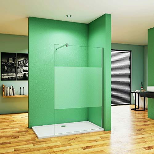 Aica Sanitär 90cm Duschwand Walk in Dusche Duschtrennwand 8/10mm Nano Glas Duschabtrennung H200cm