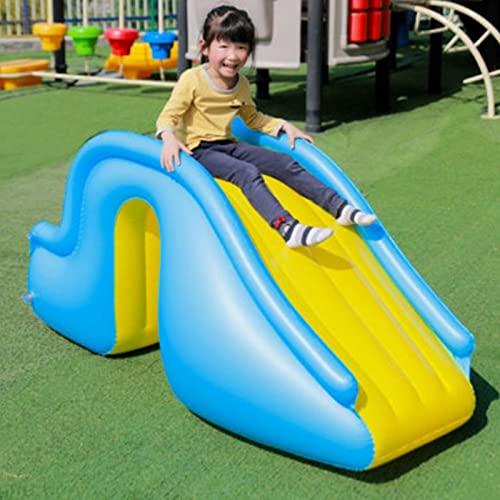 BIUDUI Pool Rutsche Aufblasbare Wasser Rutsche Für Kinder Springende Hüpfburg Aufblasbare Pool Rutsche Joyful Schwimmbad Zubehör Pool Rutsche Wasser Spielzeug Für Den Innenhof