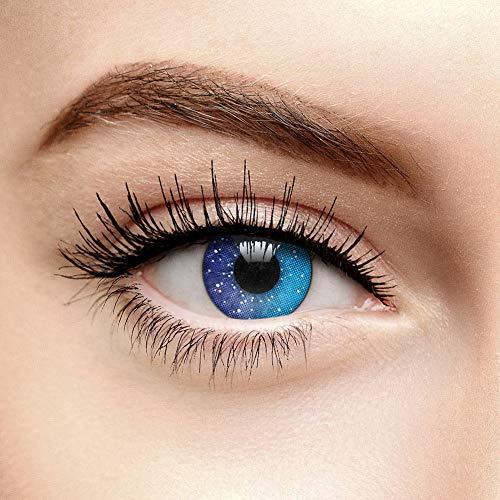 Galaxy 90 Tage Farbige Kontaktlinsen Ohne Stärke (Blau)