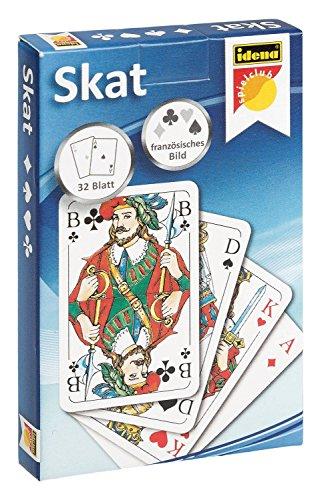 Idena 6250100 - Skatspiel mit französischem Blatt, 32 Karten, ca. 5,9 x 9,1 cm, das beliebteste Kartenspiel der Deutschen, für Wettbewerbe oder Spieleabende