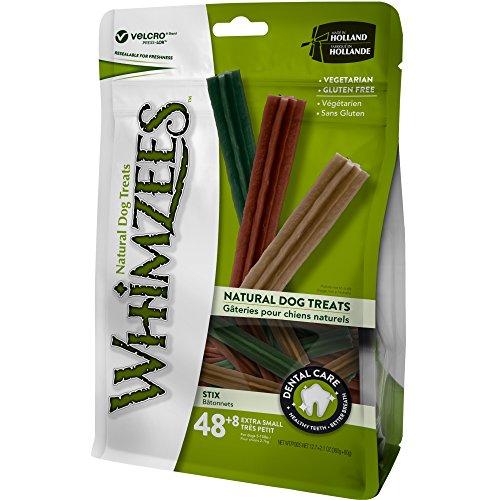 WHIMZEES Stix, natürliche, getreidefreie Zahnpflegesnacks, Kaustangen für sehr kleine Hunde, 56 Stück, Größe XS