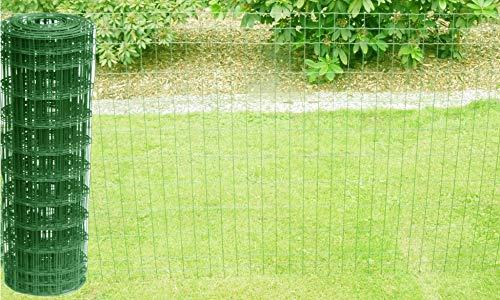 Schweißgitterzaun als Gartenzaun Wildzaun Gitterzaun in grün RAL 6005 1,0 m - 1,5 m hoch Zaungitter Zaundraht Gitterdraht Drahtgitter Maschenzaun (1,0 m hoch 25 m lang)