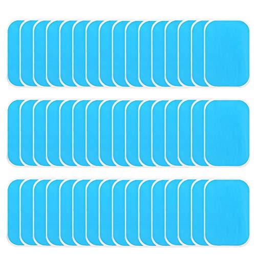 adakel 60 Stück EMS Gel Pad, Klebepads für EMS Trainer Bauchtrainer Elektrische Muskelstimulation, Abs Trainer Ersatz Gel Blatt Ersatz Pad