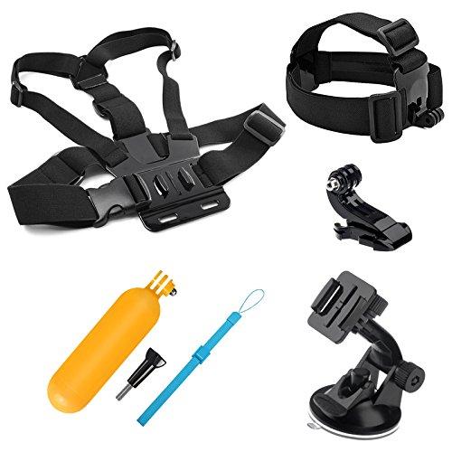 SHOOT 4-in-1 Outdoor-Sport-Anzug für GoPro Hero 9/8/7/6/5/4/3+/3 SJ4000 SJ5000 SJ6000 und andere Sportarten Kamera