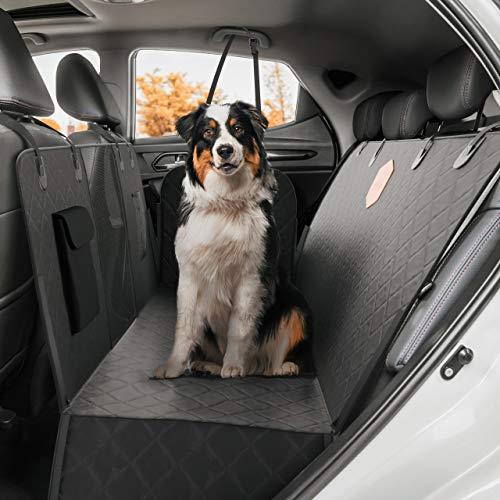 Rudelkönig Autoschondecke für Hunde - Wasserabweisende Hundedecke für Auto Rückbank mit Seitenschutz und Sichtfenster - Pflegeleichte Universal Schondecke für den Rücksitz