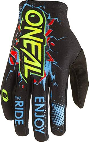 O'NEAL | Fahrrad-& Motocross-Handschuh | Kinder | MX MTB DH FR Downhill Freeride | Langlebige, Flexible Materialien, belüftete Handoberseite | Matrix Youth Glove Villain | Schwarz | Größe M