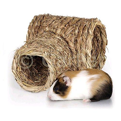 Natur Gras Heu Stroh Nager Meerschweinchen Kaninchen Hamster Tunnel Haus Nest Höhle Maus (06170)