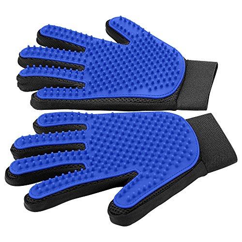 Haustier Handschuh Sanfte Fellpflegehandschuh Effizienter Handschuh Massagehandschuh mit verbessertem Fünf-Finger-Design–perfekt für Hunde und Katzen