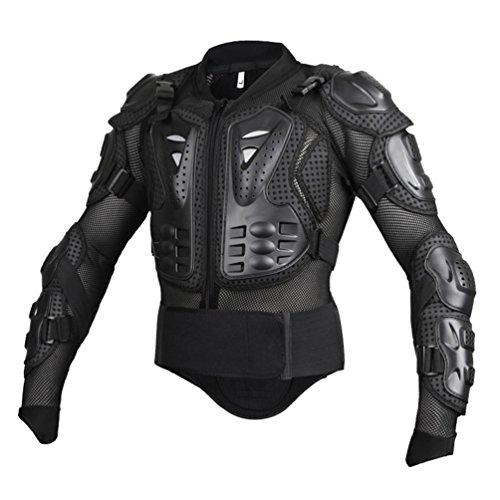 Dexinx Motorrad Radfahren Reiten Full Body Armor Rüstung Protector Professionelle Street Motocross Guard Shirt Jacke mit Rückenschutz Schwarz L