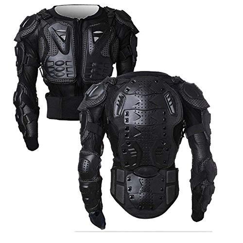 Wildken Motorrad Schutz Jacke Pro Motocross ATV Protektorenjacke mit Rückenprotektor Scooter MTB Enduro für Damen und Herren (Schwarz, L)