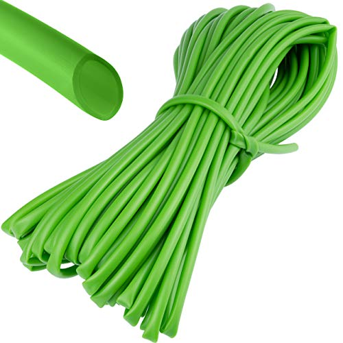 BABQO 19m Ø 4mm weicher Bindeschlauch – für Pflanzen und Bäume, besonders schonende Hohlschnur für den Garten, Frost- und UV-sicher, Grün, 19 Meter Länge - 4mm Dicke