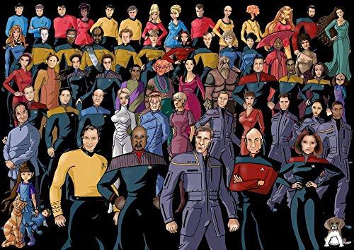 1000 teiliges Puzzle Puzzle Jumbo Spiele Star Trek Filmplakat Valentine Boy Girl Friends Erwachsene und Kinder Puzzle unmögliche