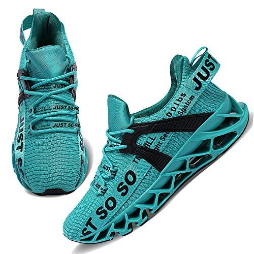 Damen Laufschuhe Walking Athletic für Frauen Casual Slip Fashion Sports Outdoor-Schuhe,36 EU,Blauer See