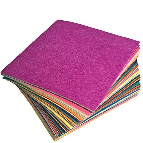 INTVN 40 Farben Filz Blätter Polyester,Felt Fabric,Farben Filz Stoff,DIY Handwerk Nähen Projekte,Bastelfilz Filz Verschiedene Farbige Polyester,Filzfolien Waschbar
