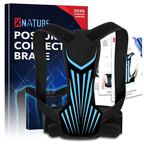 XNATURE Haltungskorrektor für Männer und Frauen, Upgrade Version Geradehalter Rücken Haltungstrainer/einstellbarer verdeckter Rückenverlängerer/Verbessert die Haltungslinderung, Rückenstabilisator