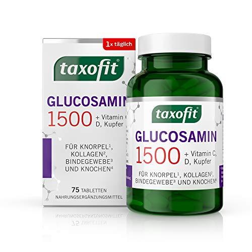 taxofit® Glucosamin 1500 Tabletten   Für Knorpel, Kollagen, Bindegewebe und Knochen   75 Tabletten
