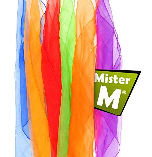 Mister M ✓ 6 Tücher ✓ Rhythmik, Jonglier, Tanz Tücher ✓ mit Online Jonglier Lern Video