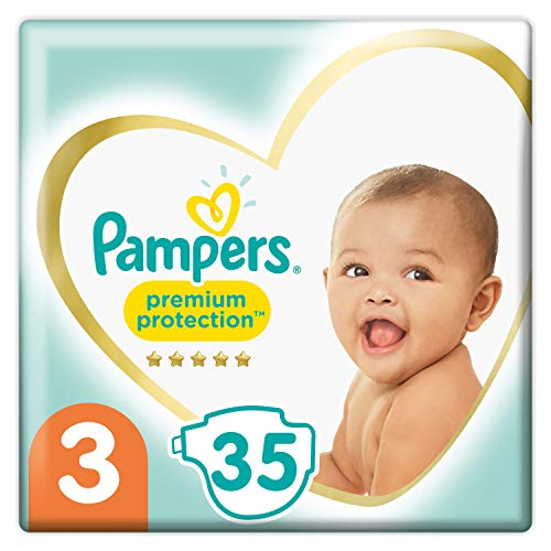Pampers Größe 3 Premium Protection Baby Windeln, 35 Stück, Weichster Komfort Und Schutz (6-10kg)