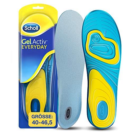 Scholl GelActiv Einlegesohlen Everyday für Freizeitschuhe von 40-46,5 – Einlagen mit verbesserter Komfort durch doppelte Polsterung – 1 Paar Gelsohlen