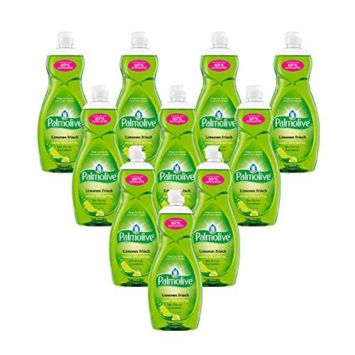 Palmolive Spülmittel Limonenfrisch 10 x 750ml, mit Zitrus-Extrakten, pflegt die Hände beim Spülen, Geschirrspülmittel