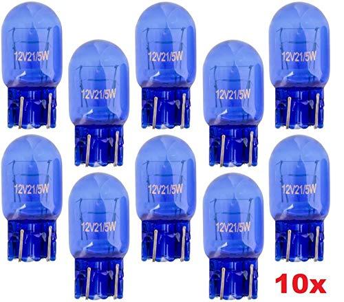 10x Stück - T20 – W21/5W - W3x16d - 21/5W - 12V – SUPER WHITE KFZ Beleuchtung Tagfahrlicht Glühlampe Glühbirne Soffitte Autolampen