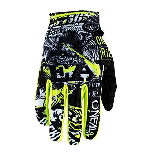 O'NEAL | Handschuh Fahrrad Motocross | MX MTB DH FR Downhill Freeride | Langlebige, Flexible Materialien, belüftete Handoberseite | Matrix Glove Attack | Unisex | Schwarz Neon Gelb | Größe L