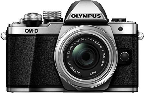 Olympus OM-D E-M10 Mark II Systemkamera (16 MP, 5-Achsen Bildstabi, elektr. Sucher, Full-HD, WLAN) + 14-42mm II R silber