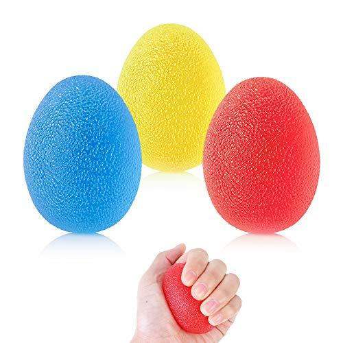 ZoZoMaiy 3 Stück Handtherapie-Bälle Hand Therapie Übung Ball Therapie Handbälle Finger Exerciser Griffbälle mit 3 Verschiedenen Widerstandsstufen, für Arthritis, Griffstärkung und Stressabbau