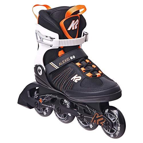 K2 Skates Damen ALEXIS 80 Inline Skates, black-purple, 39 EU (5.5 UK)
