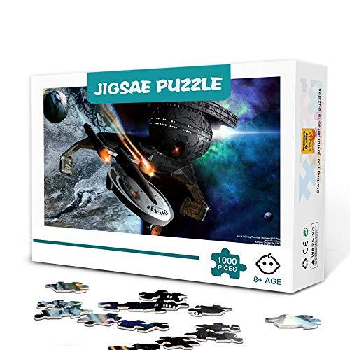 Star Trek: Filmplakat 300 Stück Puzzle für Erwachsene Holz Familienspiel Stressabbau Schwieriges Herausforderungspuzzle für Kinder Erwachsene 38x26cm