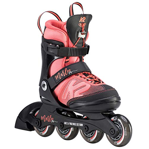 K2 Inline Skates MARLEE PRO Für Mädchen Mit K2 Softboot, Black - Pink, 30D0222