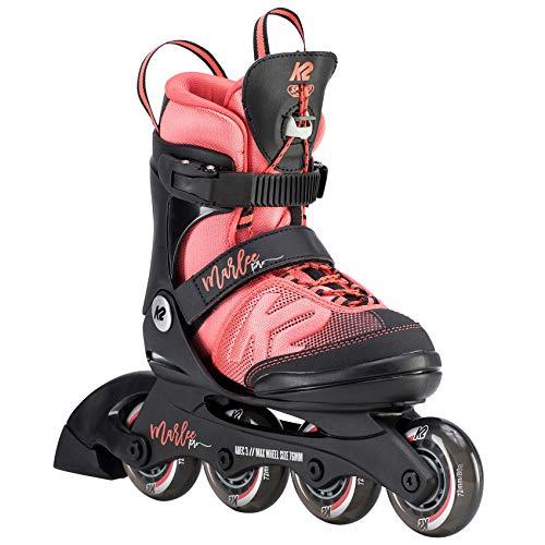 K2 Mädchen Inline Skates MARLEE PRO - Schwarz-Rosa - M (32-37 EU; 13-4 UK; 1-5 US) - 30D0222.1.1.M
