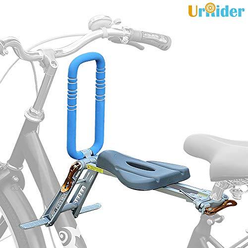 UrRider Fahrradkindersitz, Vorneliegender Fahrradsitz für Kinder, Faltbarer und ultraleichter Kinderfahrradträger-Handlauf für Cruiser/Faltbare/City-Shared-Bike