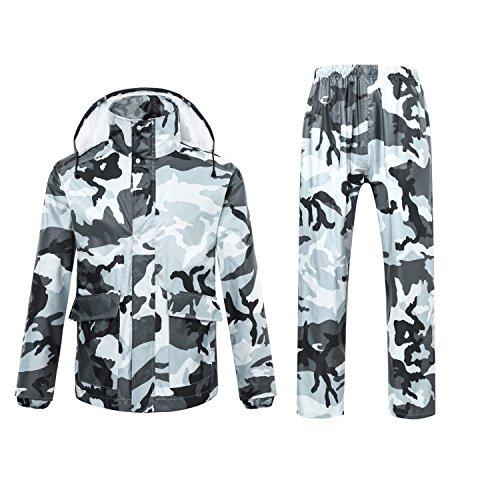 Freiesoldaten Männer/Frauen Wasserfeste Jacke/Hosen Anzüge Winddichte Mantel Motorrad Regenjacke mit Versteckte Kapuze