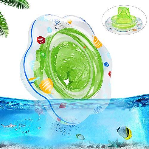 specool Schwimmring Baby Schwimmsitz Baby Schwimmhilfe Baby Schwimmen Ring Kleinkind Kinder Schwimmreifen Schwimmbad Schwimmring Aufblasbarer Kinder Schwimmring für Kinder Planschbecken(Grün)