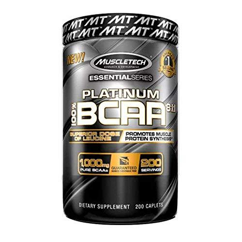 Muscletech Essential Series Platinum BCAA 8:1:1 Standard, 200 g