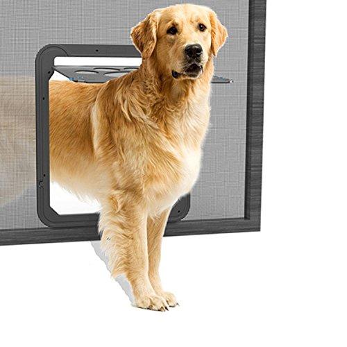 NAMSAN Haustierklappe Hundeklappe Katzenklapp für Fliegengitter mit Magnet Geschlossen Einfach zu Installieren
