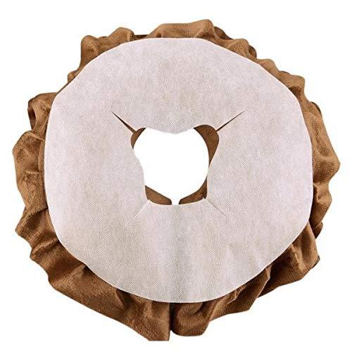 B Baosity 100Pcs Massageliegen Nasenschlitztücher Atmungsaktive, Hygieneauflagen für Kopfstützen von Massagestühlen & Massagetischen - Weiß, A.