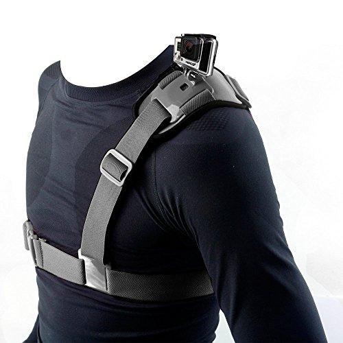 Hapurs Schulterriemenhalterung Harness Einzelner Schulter Brustgurt Unterstützt Gürtel für GoPro Hero 2 3 3+ 4 GoPro HD GoPro Hero 4 Session 5 Session Hero 5 6 Sj4000 SJ5000 SJ6000 SJ7000 SJ8000.