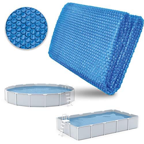 tillvex Pool Solarabdeckplane Rund Ø 305 cm | Solarfolie Stärke 120 µm | Solarplane zuschneidbar | Poolheizung für Wassererwärmung