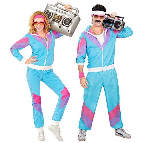 Widmann 9888T - Kostüm 80er Jahre Trainingsanzug, Jacke und Hose, angenehmer Tragekomfort, Assi Anzug, Proll Anzug, Retro Style, Bad Taste Party, 80ties, Karneval