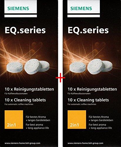 SIEMENS TZ80001N 20 Stück Reinigungstabletten für alle Kaffeevollautomaten der EQ. Series