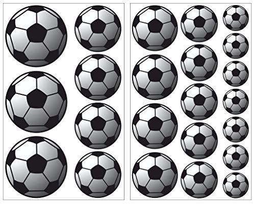 Samunshi 23-Teiliges Fussball Wandtattoo Set Wandaufkleber Kinderzimmer Babyzimmer in 5 Größen (2x16x26cm Mehrfarbig)