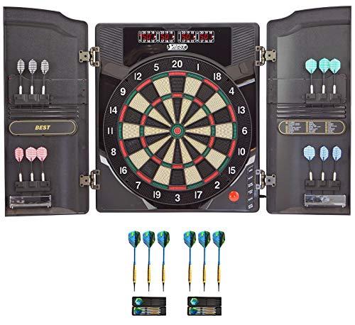 Best Sporting elektronische Dartscheibe Oxford 2.0 LED Dartboard Kabinett mit hochwertigen 18 g Pfeilen